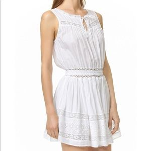 LoveShackFancy Inez sleeveless white crochet dress